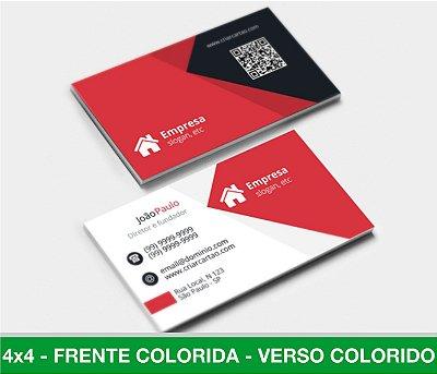 Cartão de Visita 1.000 Unid - LAM. FOSCA - Frente e Verso Coloridos