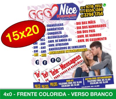 5.000 PANFLETOS 15x20cm - Frente Colorida - 4x0 - Papel Couche 90g