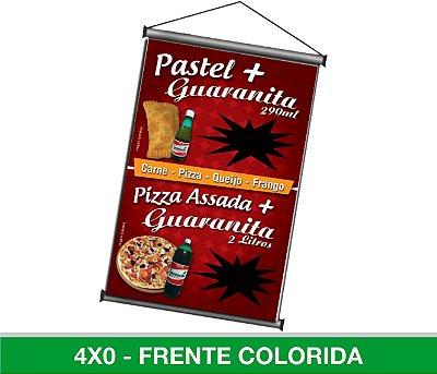 Banner Digital 1,50x1m- Lona 440g - Com Madeirinha ou Ilhós
