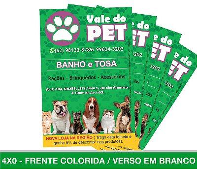 1.000 PANFLETOS - Frente Colorida - 4x0 - Papel Couche 90g
