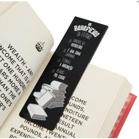 Marcador de Páginas - Couche 300g - Verniz Total Frente