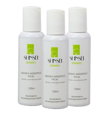 Kit Sabonete Antisséptico Facial Shinsei 120ml - 3 Unid