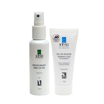 Kit folia - Desodorante para pés Shinsei 120 ml  + Gel Relaxante Pernas e pés Shinsei 60g