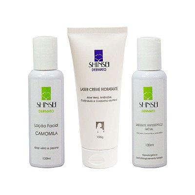 Kit Rosto Perfeito - Limpeza, Tonificação e Hidratação
