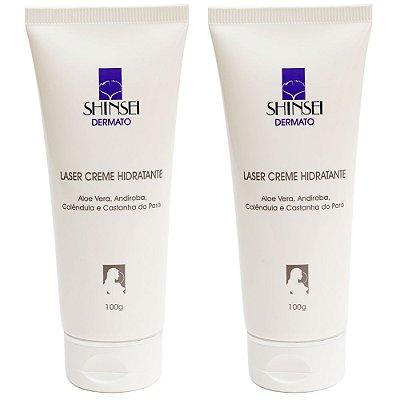 Kit Creme Hidratante Facial pós Laser CO2 100g - 2 Unidades