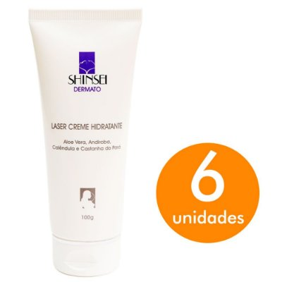 Kit Creme Hidratante Facial pós Laser CO2 Shinsei 100g - 6 Unid