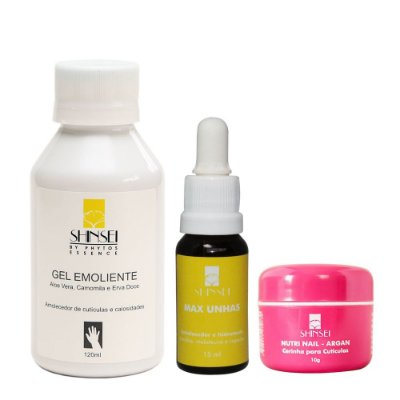 Kit Gel Emoliente, Max Unhas e Nutri Nail Shinsei