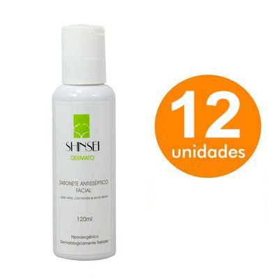 Kit Sabonete Antisséptico Facial Shinsei 120ml - 12 Unidades
