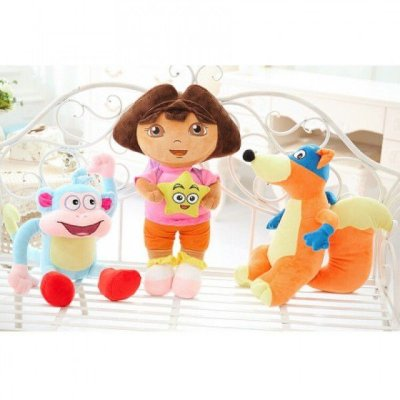 3 Pelúcias Personagens Dora, a Aventureira