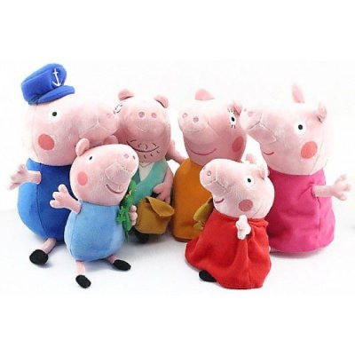 Conjunto de Pelúcias Família Peppa Pig