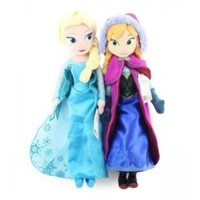 Par de Pelúcia Elsa e Anna 40cm Filme Frozen
