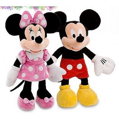 Par Pelúcia personagens Mickey E Minnie 35cm