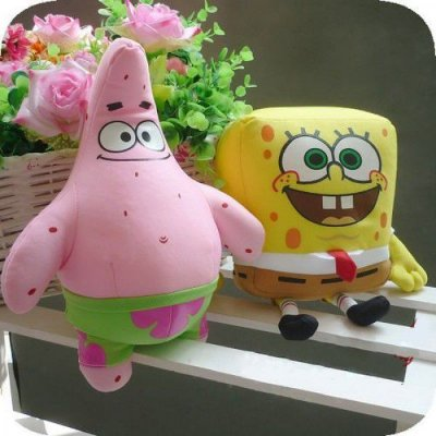 Pelúcias Bob Esponja E Patrick 25cm Star Plush