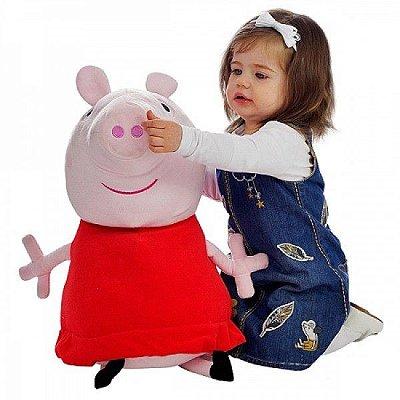Pelúcia personagem Peppa Pig Gigante 60cm