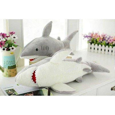 Pelúcia animal Tubarão grande 70cm