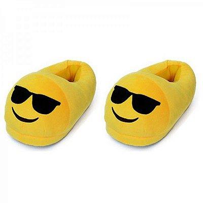 Pantufa Emoji Óculos Escuros Whatsapp