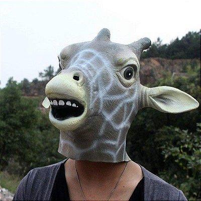 Máscara Realista Cabeça de Girafa