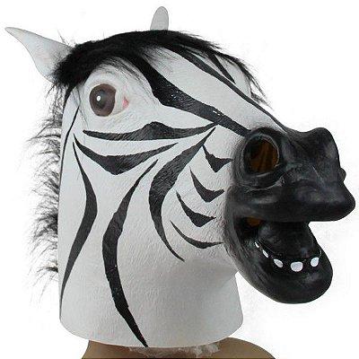 Máscara Realista Cabeça de Zebra