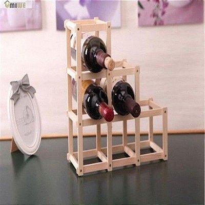 Suporte Dobrável de Madeira para Vinho