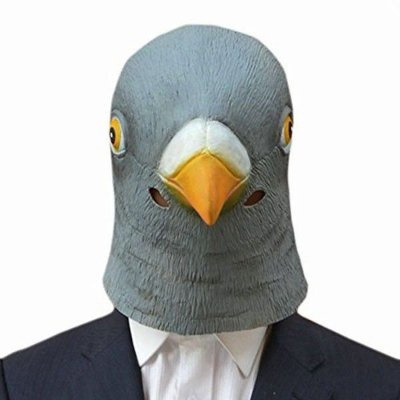Máscara Cabeça De Pombo Cinza