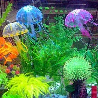 Conjunto 10 Medusas Decorativa Florescente