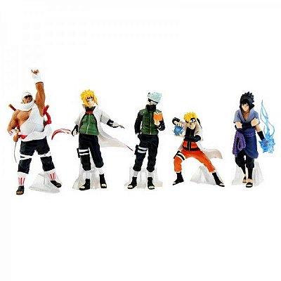 Miniaturas Personagens Naruto 5 Peças