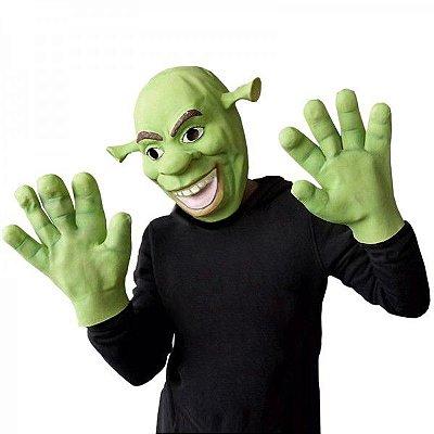 Máscara e Luvas Látex Personagem Shrek