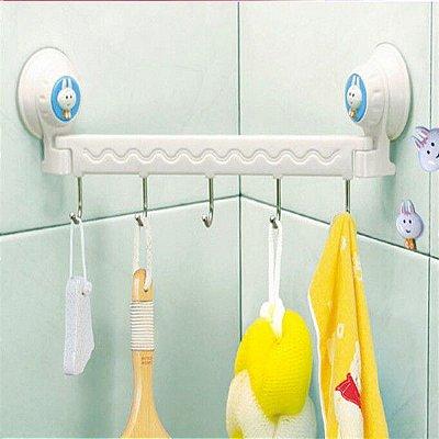 Porta Produtos de Banheiro 5 Ganchos