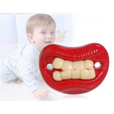 Chupeta 9 dentes Tooth Funny Raiva