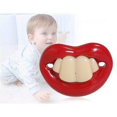 Chupeta Modelo 4 Dentes Tooth Funny
