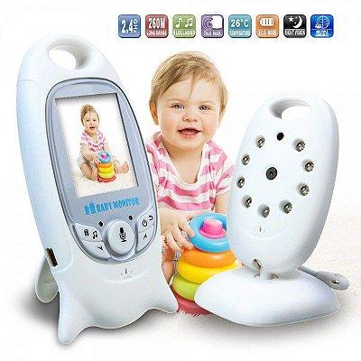 Monitor Baby Cam Sem Fio Night Vision Com Som