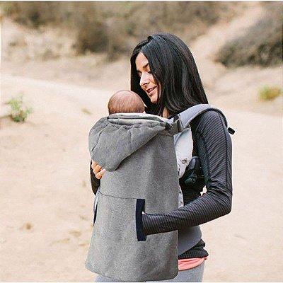 Porta Colo de Bebê Modelo Para Inverno Cinza