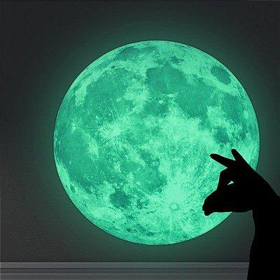Adesivo de Parede Lua Brilha no Escuro 30cm