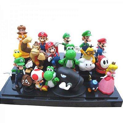 Conjunto 18 Bonecos Super Mario Bros