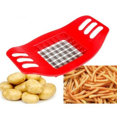 Cortador Prático de Batatas Vermelho