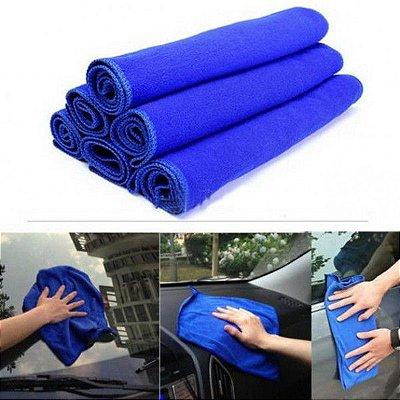 Toalha Microfibra de limpeza 30x30cm Azul