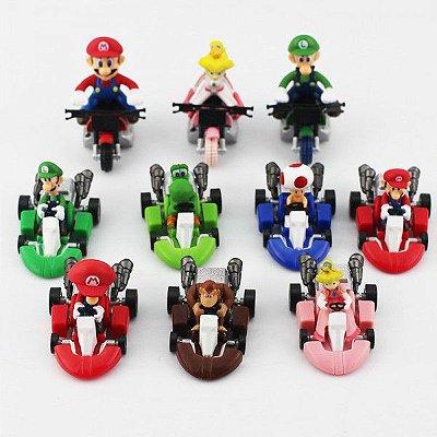 Conjunto Miniaturas Mario Kart 10 Personagens