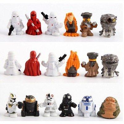 Conjunto com 18 Bonecos do Filme Star Wars