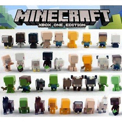 Conjunto Bonecos Minecraft 36 Peças de PVC