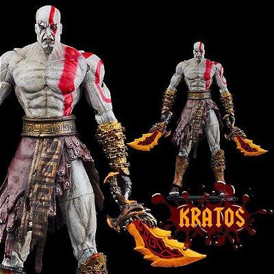 Boneco Kratos com Lâminas de Athena 15cm
