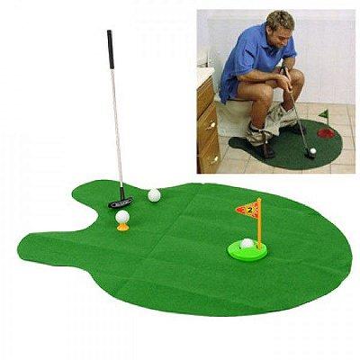 Mini Golfe Portátil e Criativo para Banheiro