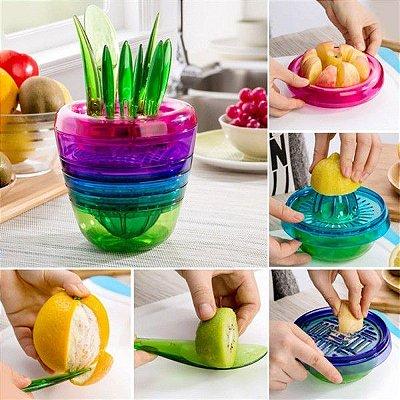 Cortador e Descascador de Frutas 10 em 1