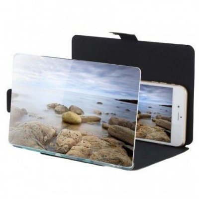 """Ampliador 8.2"""" de tela em HD Suporte para Filmes 3D"""