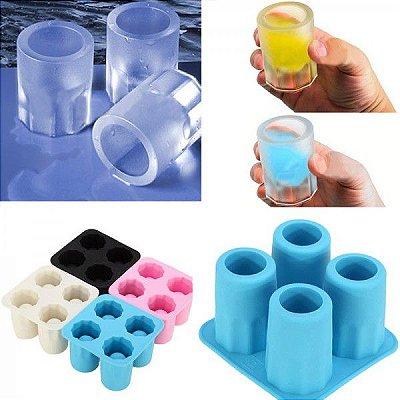Forma de Silicone Copo Ice Shot Drink