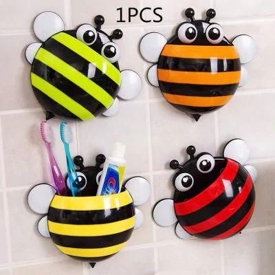 Suporte de escova de dentes em forma de abelha