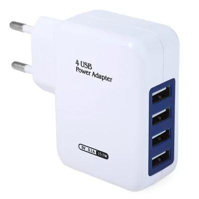 Adaptador USB de Tomada 4 Entradas