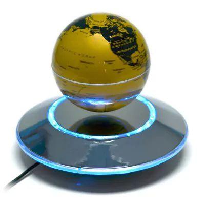 Levitação Magnética Globo Flutuante Mapa Mundial