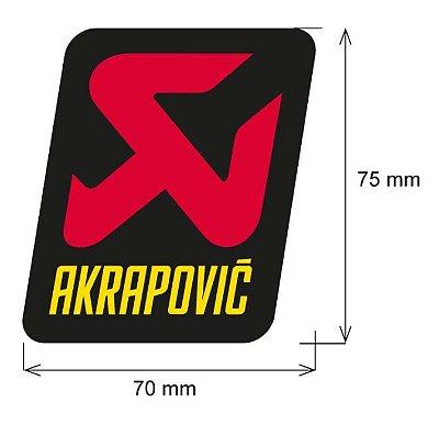 Adesivo akrapovic 70X75