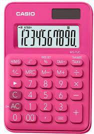CALCULADORA CASIO MS-7UC PINK 10 DIGITOS