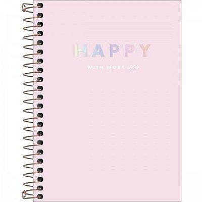 CADERNETA ESPIRAL 1/8 CD 80FLS HAPPY